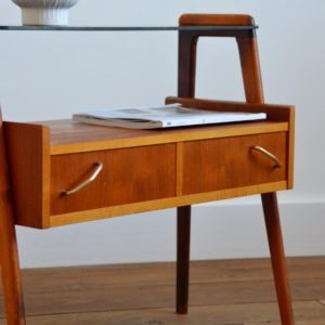 Table d'appoint : console scnadinave 1960 teck vintage 13