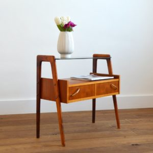 Table d'appoint : console scnadinave 1960 teck vintage 17