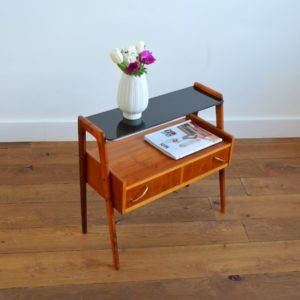 Table d'appoint : console scnadinave 1960 teck vintage 31