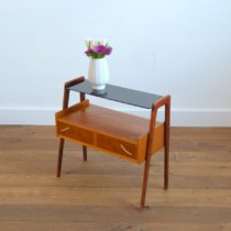 Table d'appoint : console scnadinave 1960 teck vintage 32