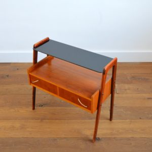 Table d'appoint : console scnadinave 1960 teck vintage 35