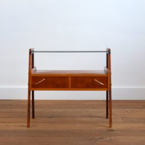 Table d'appoint : console scnadinave 1960 teck vintage 39