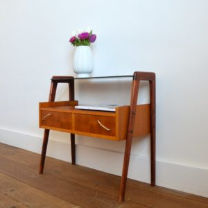 Table d'appoint : console scnadinave 1960 teck vintage 8