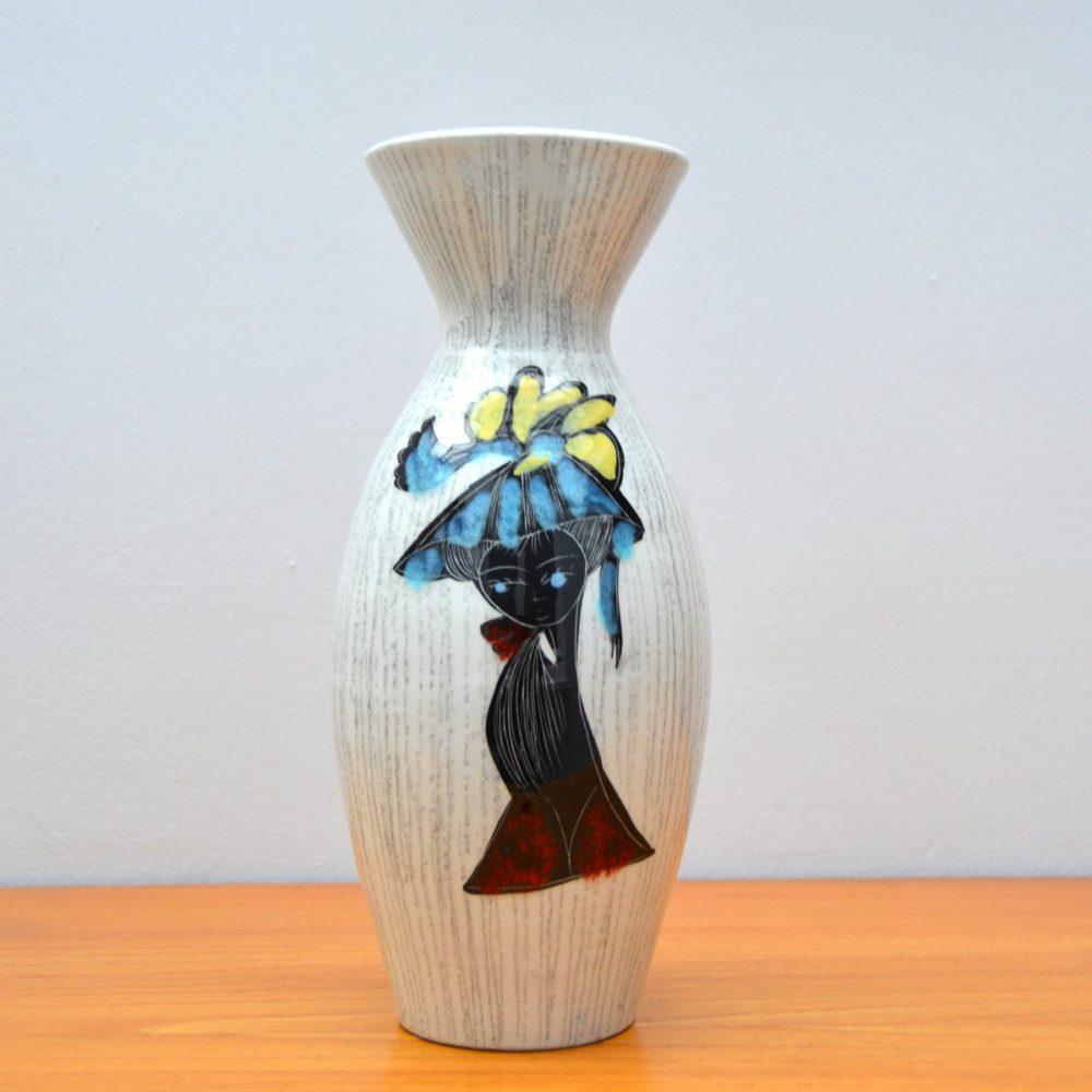 Vase en céramique  » La Settimello  » Italie vintage 1950s