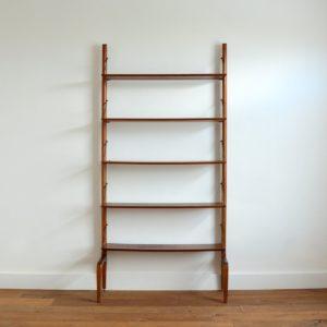 Wall unit : Bibliothèque Louis Van Teeffelen 1960 teck vintage 90