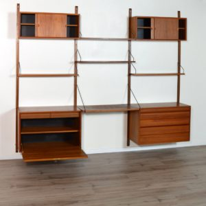 Wall units Poul cadovius royal system scandinave Danemark 1960 vintage 108