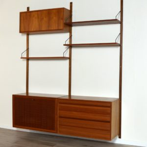 Wall units Poul cadovius royal system scandinave Danemark 1960 vintage 12