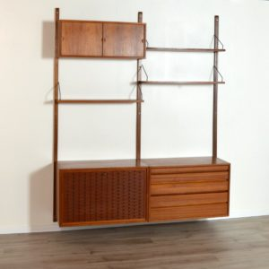 Wall units Poul cadovius royal system scandinave Danemark 1960 vintage 17