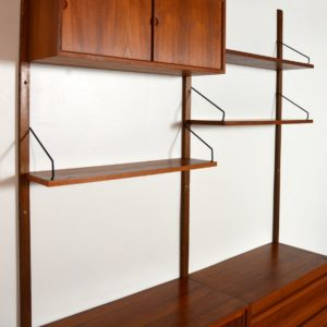 Wall units Poul cadovius royal system scandinave Danemark 1960 vintage 27