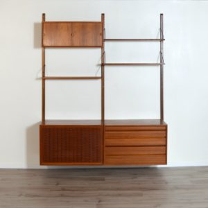 Wall units Poul cadovius royal system scandinave Danemark 1960 vintage 3