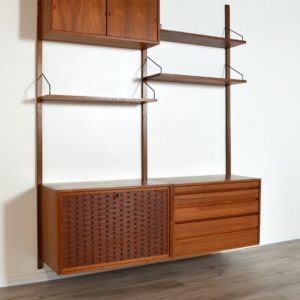 Wall units Poul cadovius royal system scandinave Danemark 1960 vintage 7