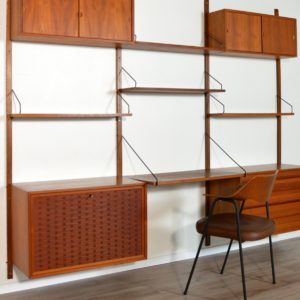Wall units Poul cadovius royal system scandinave Danemark 1960 vintage 73