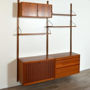 Wall units Poul cadovius royal system scandinave Danemark 1960 vintage 8
