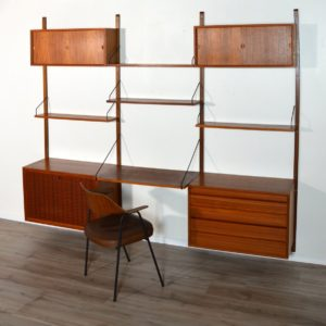 Wall units Poul cadovius royal system scandinave Danemark 1960 vintage 86