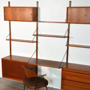 Wall units Poul cadovius royal system scandinave Danemark 1960 vintage 87