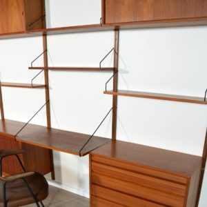 Wall units Poul cadovius royal system scandinave Danemark 1960 vintage 89