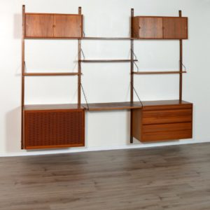 Wall units Poul cadovius royal system scandinave Danemark 1960 vintage 91