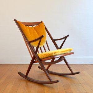 Rocking Chair scandinave par Frank Reenskaug pour Bramin 1960 vintage 3