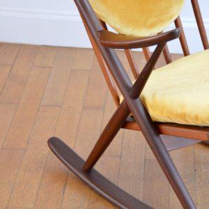 Rocking Chair scandinave par Frank Reenskaug pour Bramin 1960 vintage 5