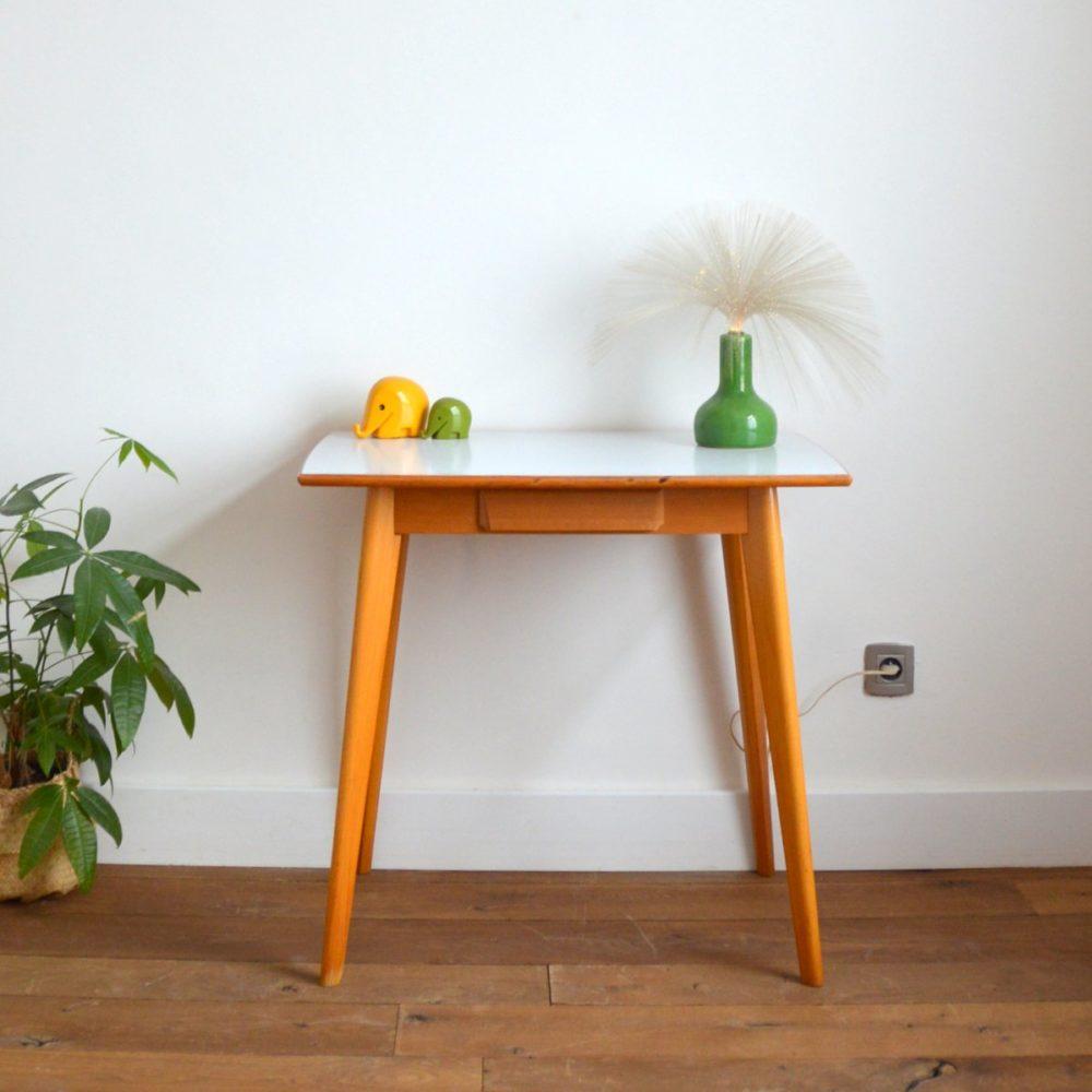 Table / Bureau bois et formica vintage 1960s