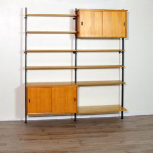 Bibliothèque Suédoise Olof Pira scandinave vintage a