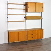 Bibliothèque Suédoise modulable par Olof Pira 1960s