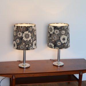 Paire de lampe fleuris années 70 vintage 11