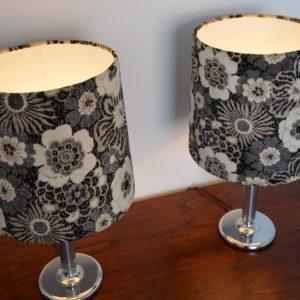 Paire de lampe fleuris années 70 vintage 14