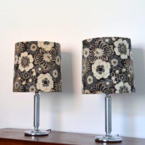 Paire de lampe fleuris années 70 vintage 20
