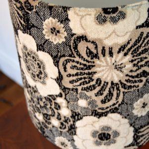 Paire de lampe fleuris années 70 vintage 35