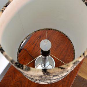 Paire de lampe fleuris années 70 vintage 36