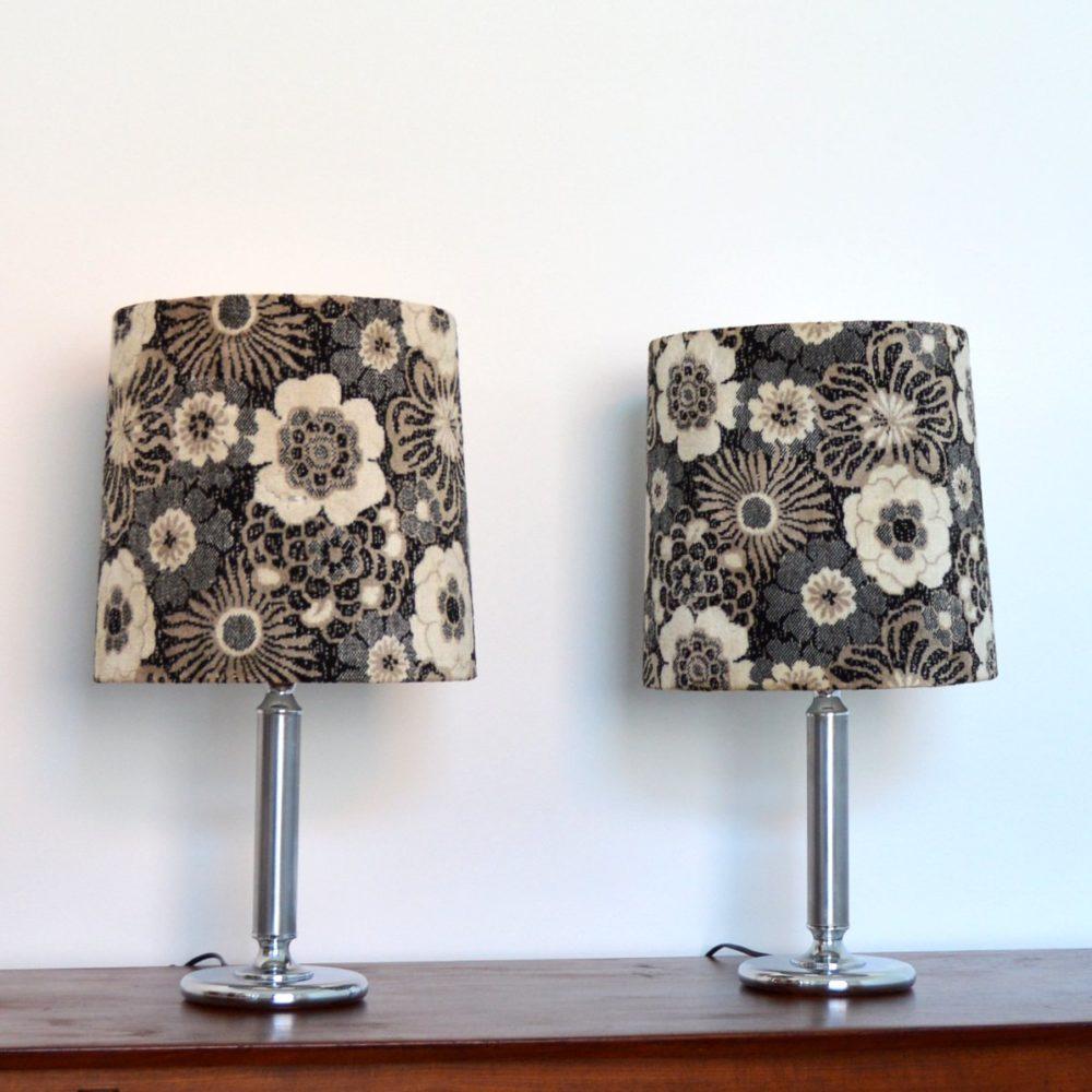 Paire de grandes lampes de table vintage 1970s