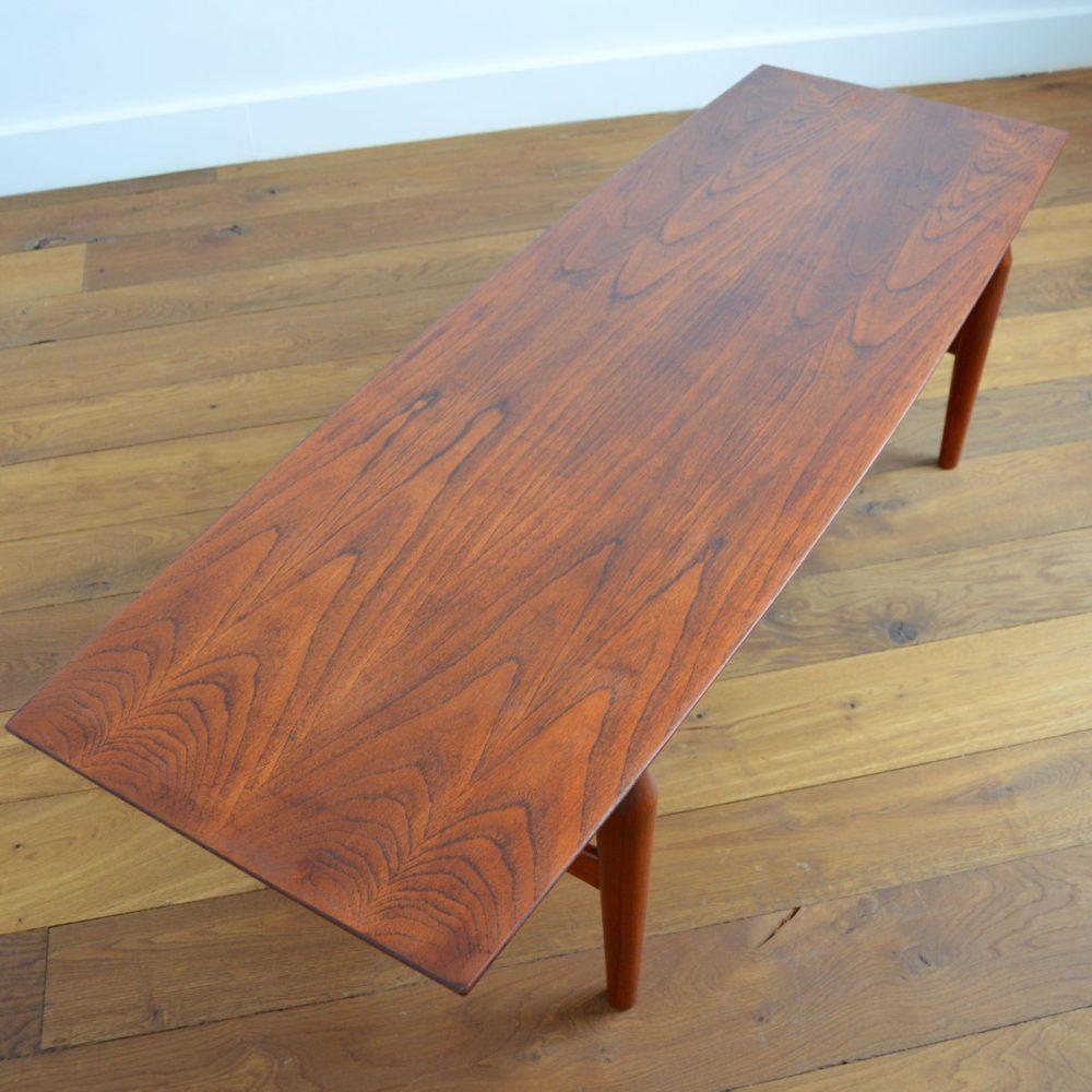 Table basse scandinave Teck et Palissandre 1960s