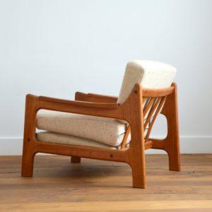 Paire de fauteuils Danois Scandinave teck 1960 vintage 11