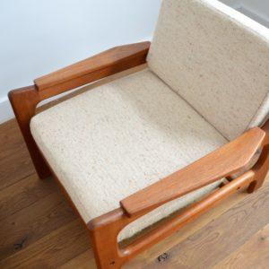 Paire de fauteuils Danois Scandinave teck 1960 vintage 6