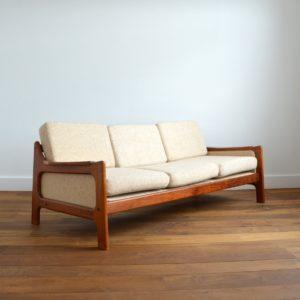 Sofa : Canapé Danois Scandinave teck 1960 vintage 18