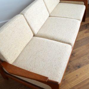 Sofa : Canapé Danois Scandinave teck 1960 vintage 23