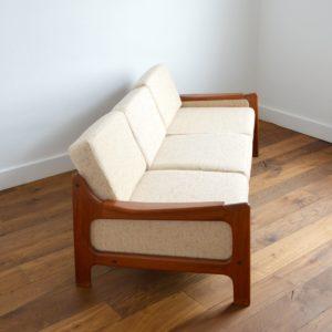 Sofa : Canapé Danois Scandinave teck 1960 vintage 3