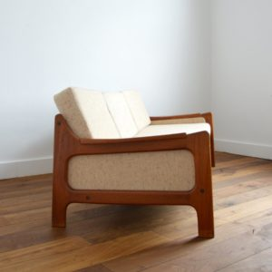 Sofa : Canapé Danois Scandinave teck 1960 vintage 4