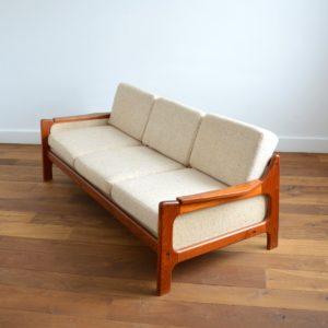 Sofa : Canapé Danois Scandinave teck 1960 vintage 59