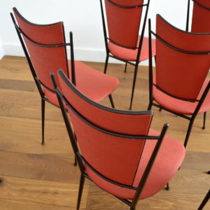 8 chaises fifties Rockabilly 1950 vintage 31