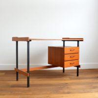 Bureau moderniste bois et métal 1950 / 1960s