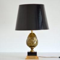 Lampe de table dorée Artichaut vintage 1970s
