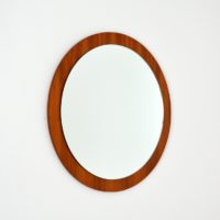 Grand miroir rond scandinave 1960s