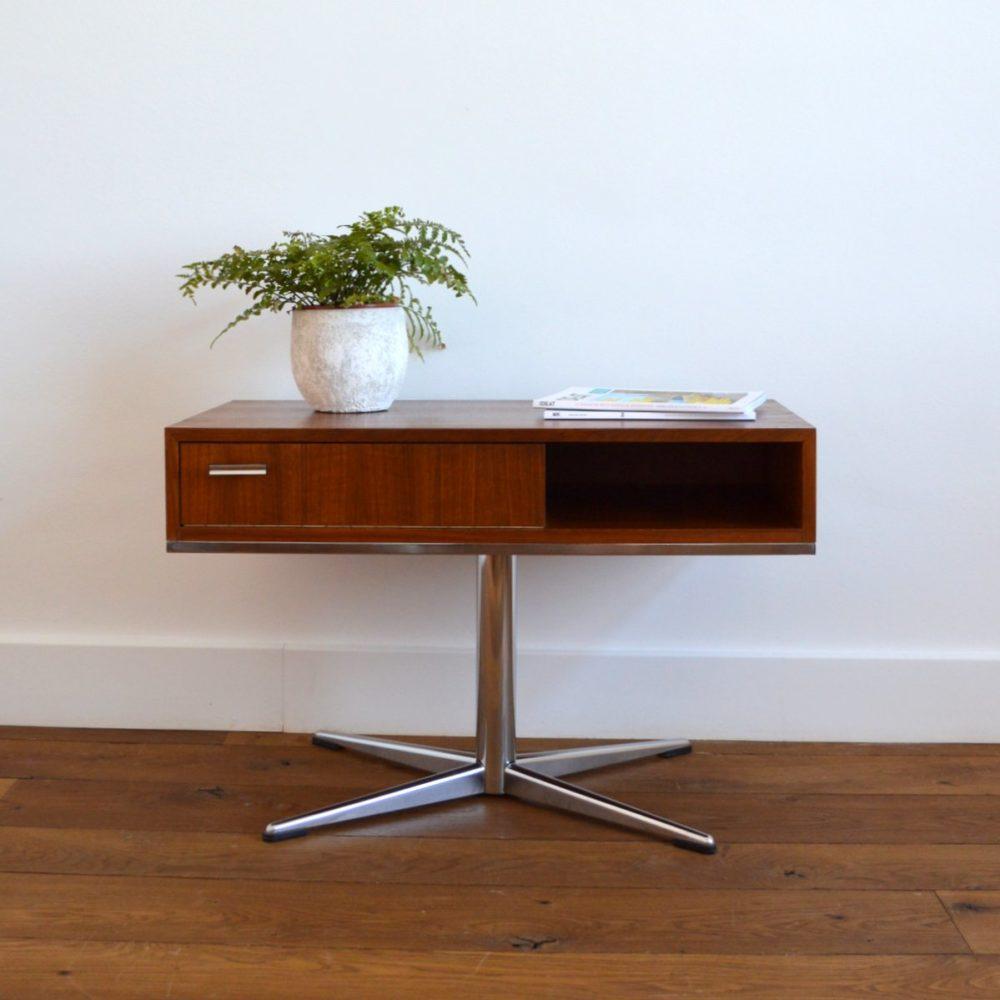 Table d'appoint pivotante / Hifi / Multifonctions Design vintage 1970s