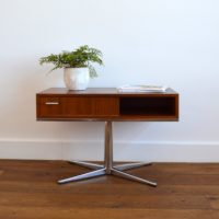 Table d'appoint pivotante / Hifi / Multifonctions Design vintage 1970s