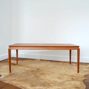 Table basse Danoise Scandinave 1960 teck vintage 21