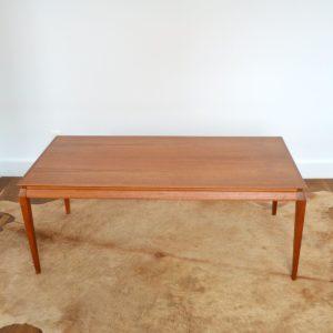 Table basse Danoise Scandinave 1960 teck vintage 22