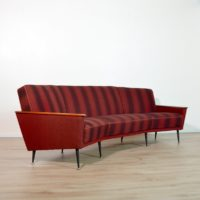 Rare et Superbe canapé incurvé vintage Teck 1950s