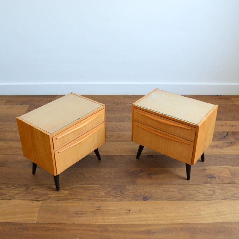 Paire de chevets vintage 1960s